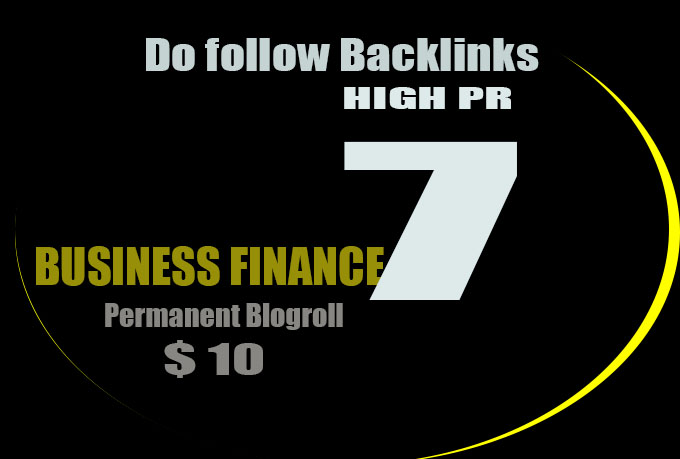 I will give u blogroll links PR7 Business Finance