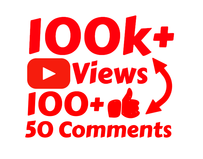 100k 100,000 High Quality views with 100 Likes