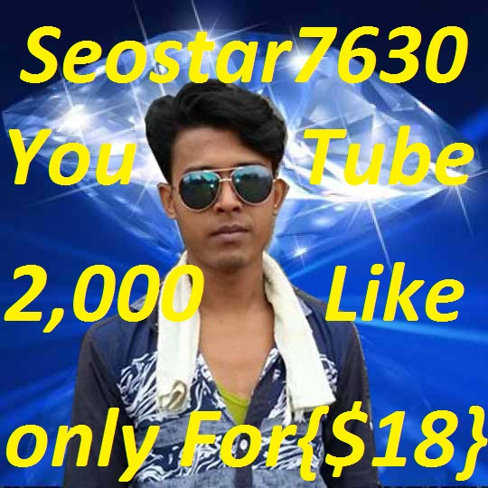 2,000 YouTube Video Like Or 250 Auto Subscriber or 20,000 youtube Views only