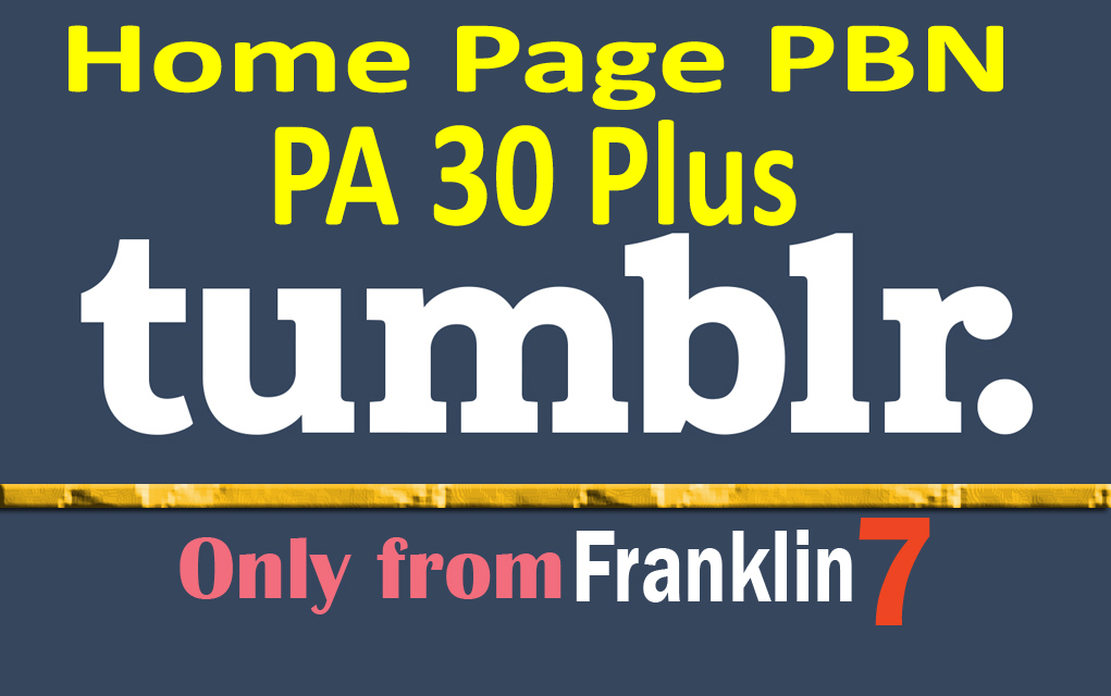 10 Permanent Aged Tumblr Pbn Backlinks With Guarantee...
