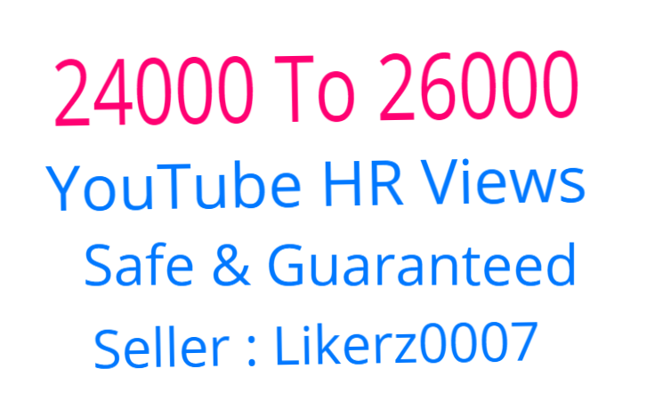 I Will Add 24000 To 26000 Retention and Safe YouTube Video Promotion