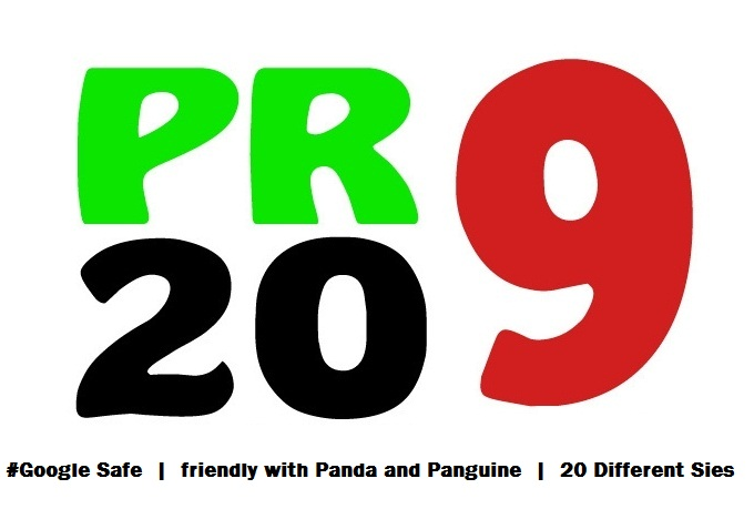 I will manually Create 20 PR9 Backlinks to Rank your website