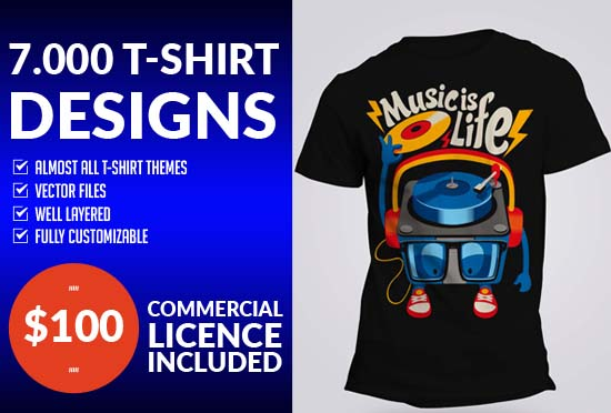 Will deliver 7000 T-Shirt Designs and Source Files