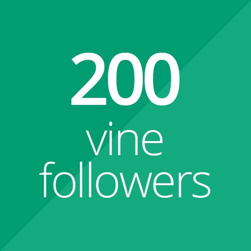 200 High Quality Vine followers