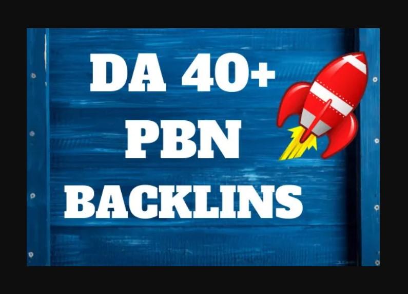 3 Manual DA 40+ High Quality Dofollow PBN Backlinks