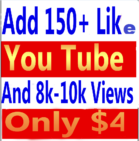I will give you real 10000- 15000 (10k-15k) youtube views and 150+ youtube video likes in your video