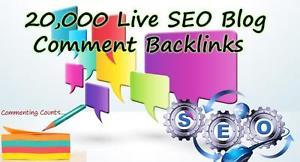 I will provide over 20,000 Live SEO Blog Comment Back...