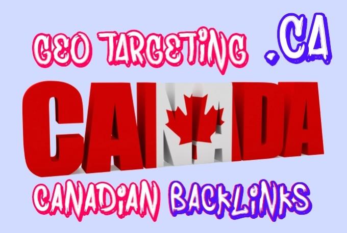 create 150 backlinks on canadian CA blog domains