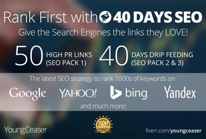 rank you First in Google,  50 PR10 Niche Backlinks,  40days SEO