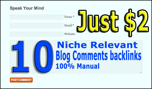 10 High Quality Niche relevant backlinks to boost SERP