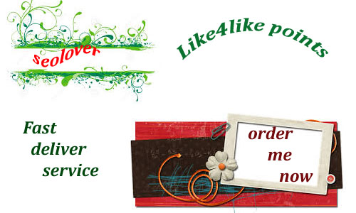 Fast 12300+ like4like points instant  delivery only for