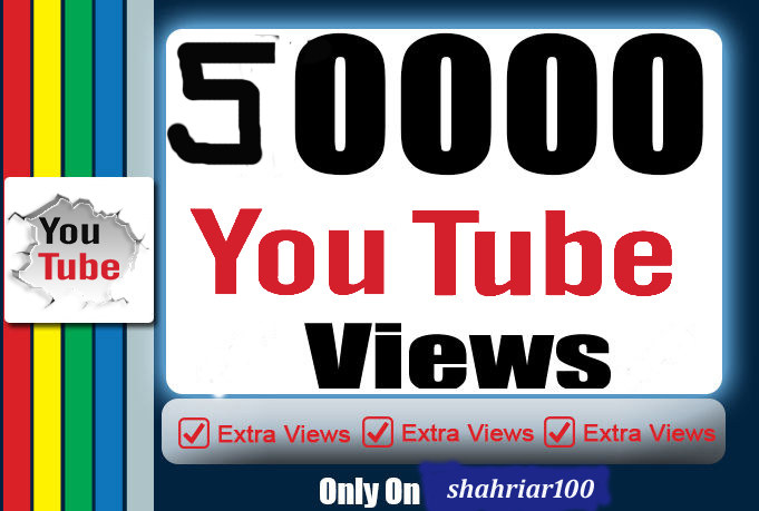 HQ 50K or 50,000 Youtube Promotion Pakeage super fast delivery