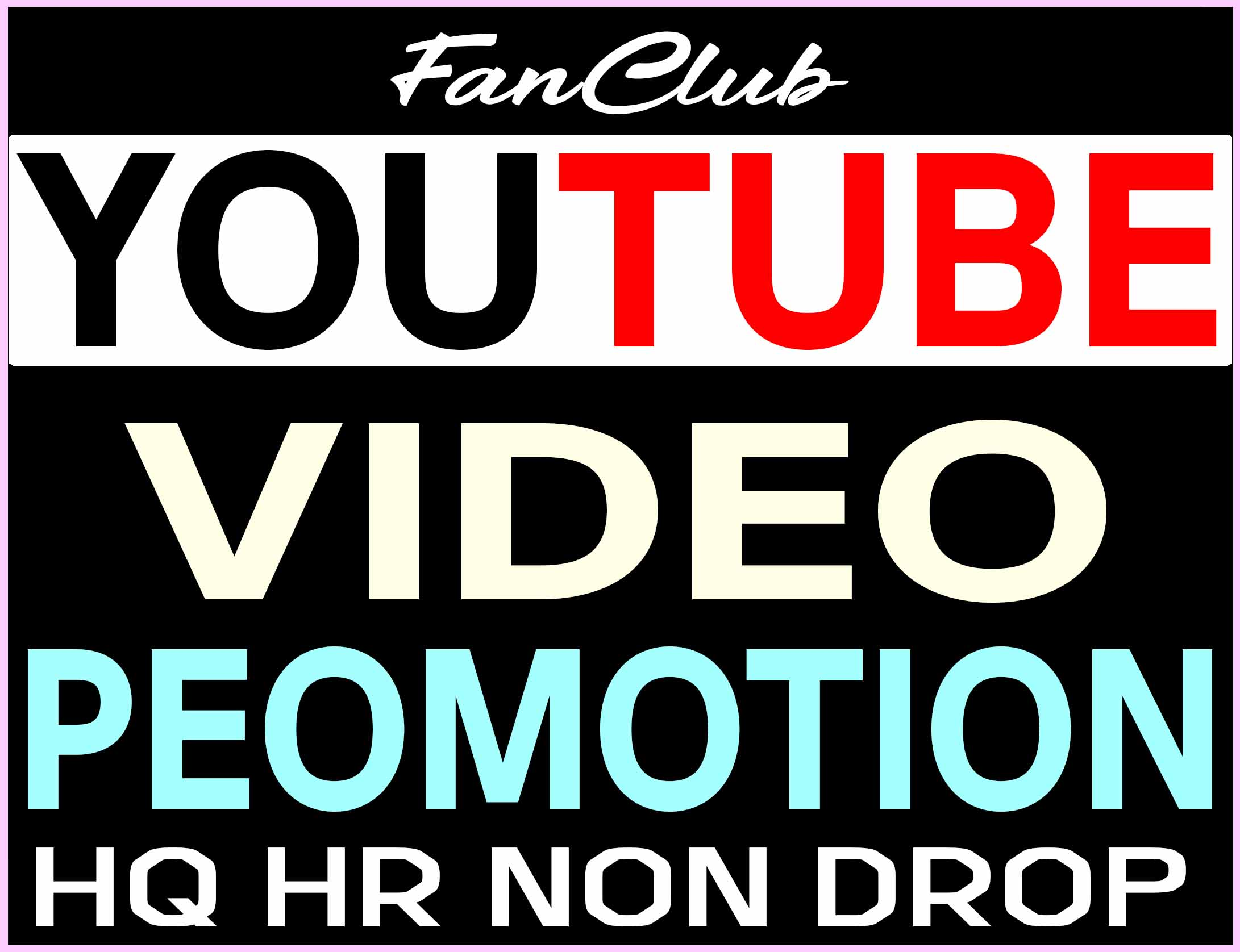 YOUTUBE VIDEO PROMOTION AND MARKETING REAL ORGANIC SUPER FAST WITH NON DROP GUARANTEED
