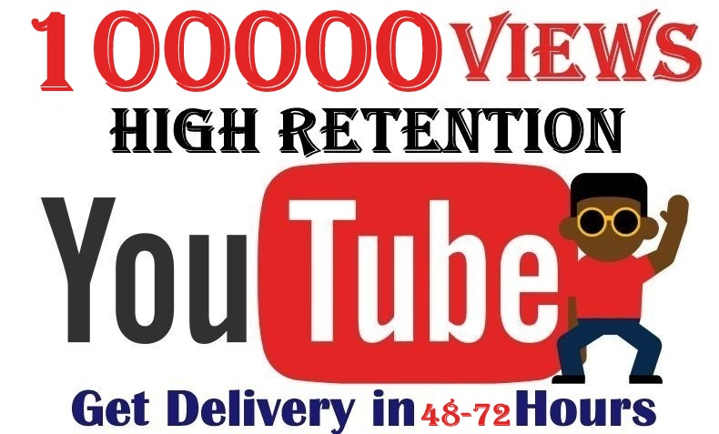 100000+ Youtube Views Lifetime Refill Guaranteed Safe & Fast Service