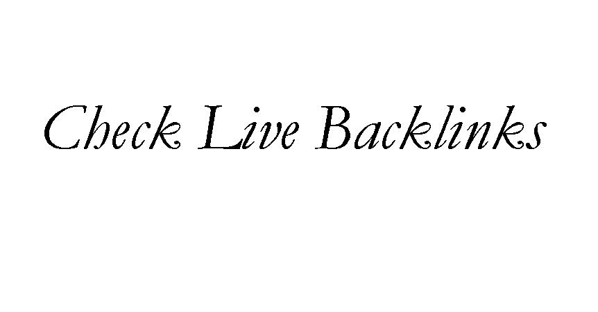 Audit Backlinks List from Linkbuilding activities