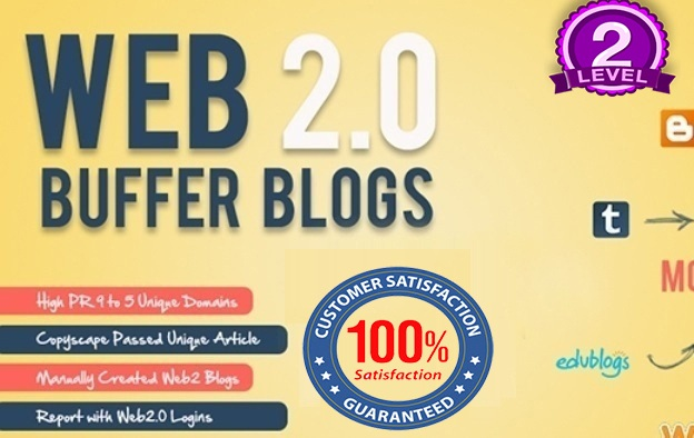 I will create 30 Web 2 High DA 30+ Blogs Manually