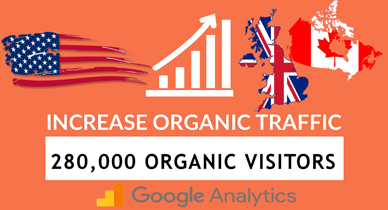 280,000 keyword targeted organic traffic within 30 days