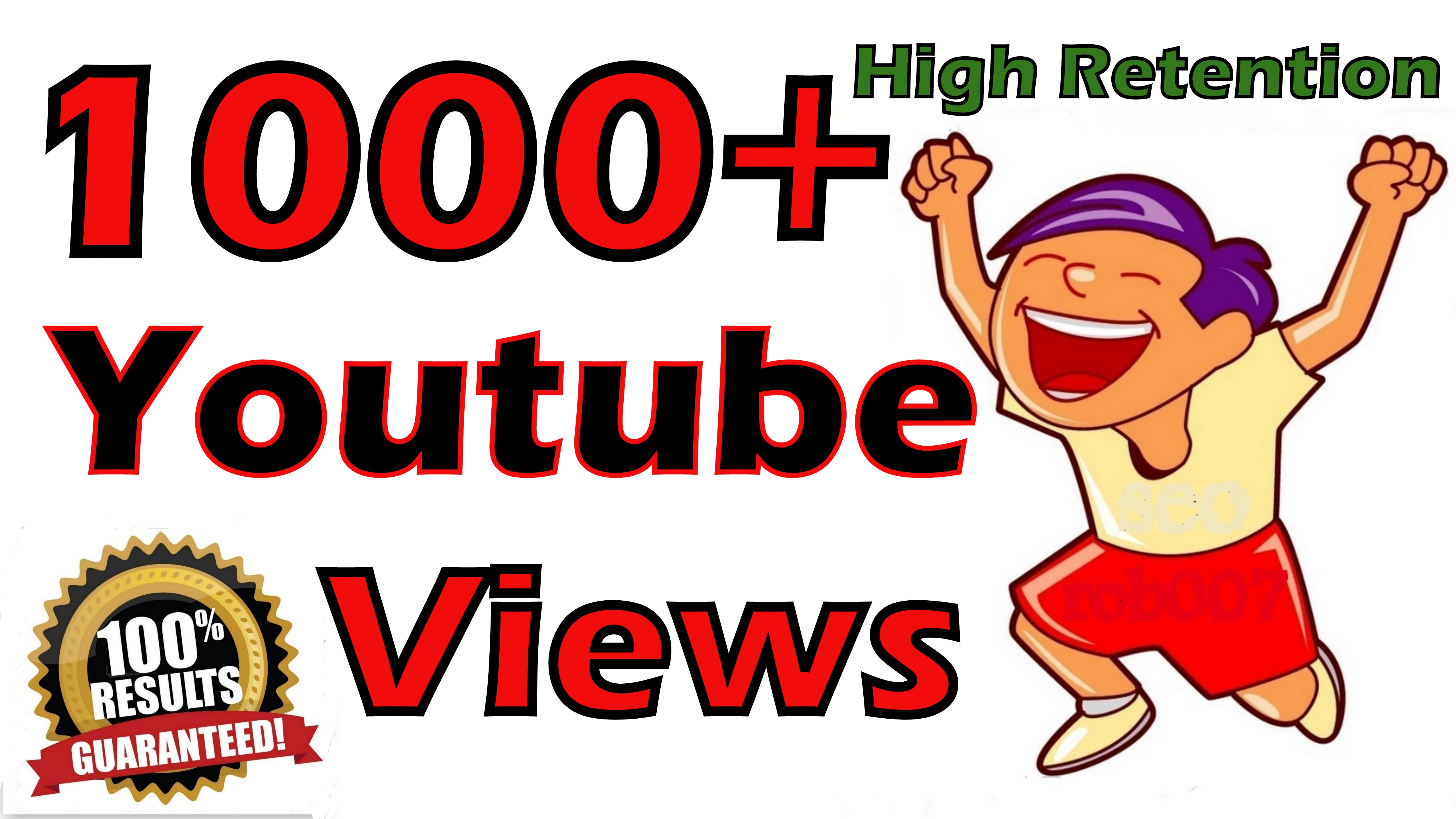 Safe 1000+  Video Views Lifetime Guarantee Super Fast Promotion in 2448 Hours