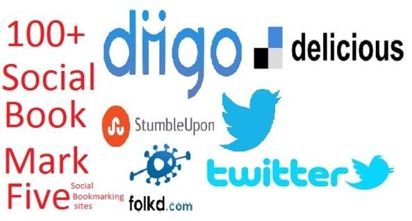 give you 10, Stumbleupon, diigo, Pinterest, Pearltrees, etc share groupTotal 100 Social Bookmark