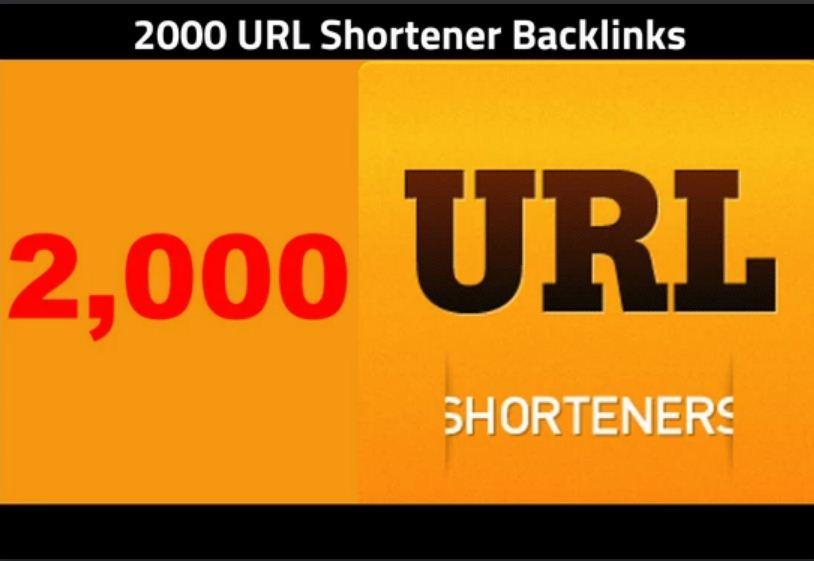 provide 2000 URL shortener backlinks in 48 hours