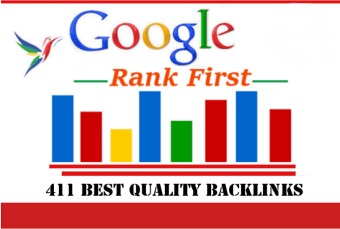 I will Increase Your Ranks to the First Page Google with 411 Backlinks