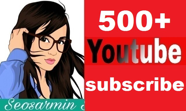 Guaranteed - 500+ youtube channel subs'cribe non drop and safe real profile Just
