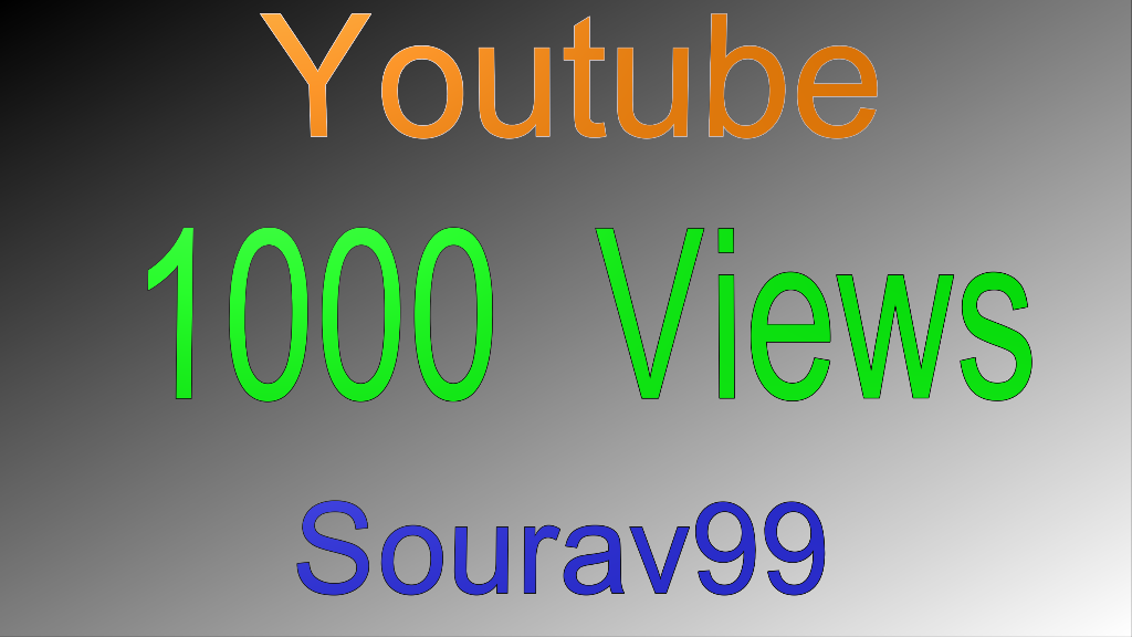 1000 Youtube Views on your video