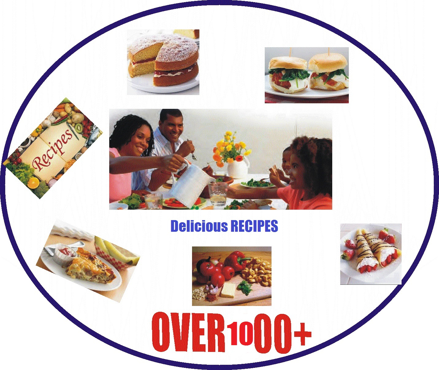 Great Cook Book With BONUS - Give You 6 Complete Recipe Ebooks with over 3000 RECIPE For Price Of One