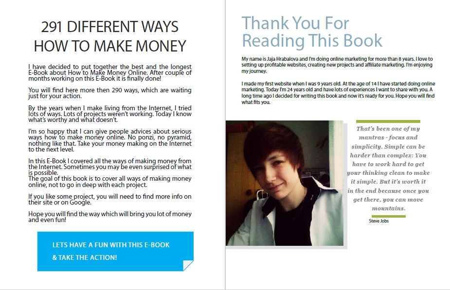 291 Ways You Need to Know - How to Make Money in 2019 eBook