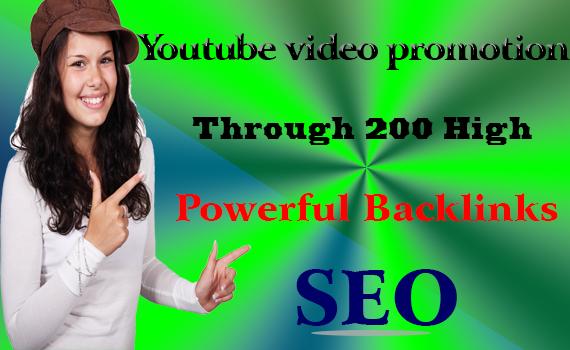 Rank YouTube video promotion through 200 high Powerfu...