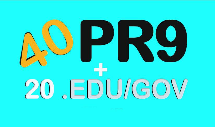 Skyrocket your seo Google Rankings with 40 PR9 + 20 EDUGOV high PR safe backlinks
