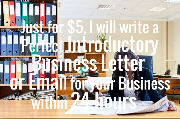 write an impressive business introduction letter or e...
