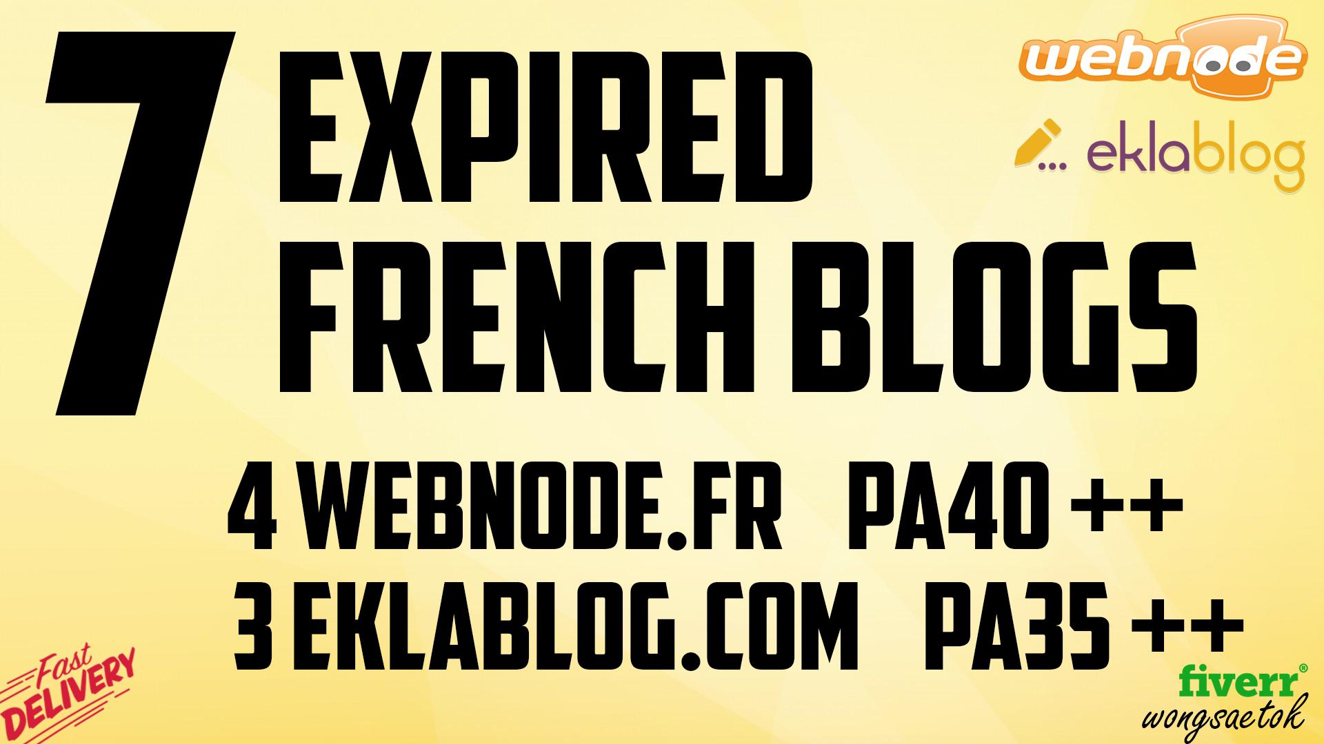 Find and Register Expired French Blog Webnode Eklablog Pa40