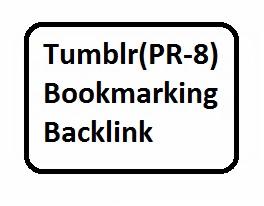 15 Tumblr PR-8 bookmarking backlinks For Website