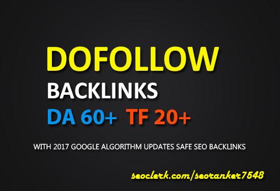 50 PR95 up Dofollow Authority Backlinks