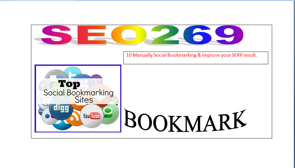 Do 20 Manually Social Bookmarking & improve your SERP result.