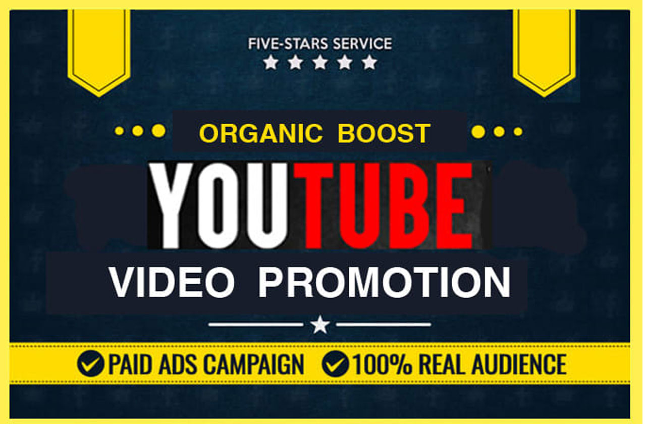 Organic YouTube Video Promotion with fast Delivery