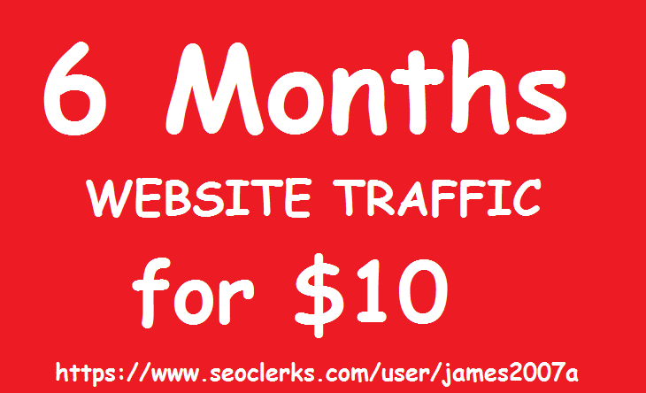 Adsense Safe UNLIMITED REAL Website TRAFFIC for 6 mon...