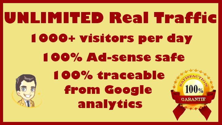 Send UNLIMITED Real Traffic for 30 days