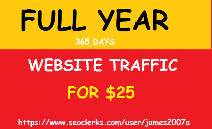 Adsense Safe UNLIMITED REAL Website TRAFFIC for 1 yea...
