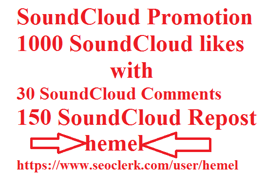 Soundcloud 1000 Likes with 30 comments 150 repost