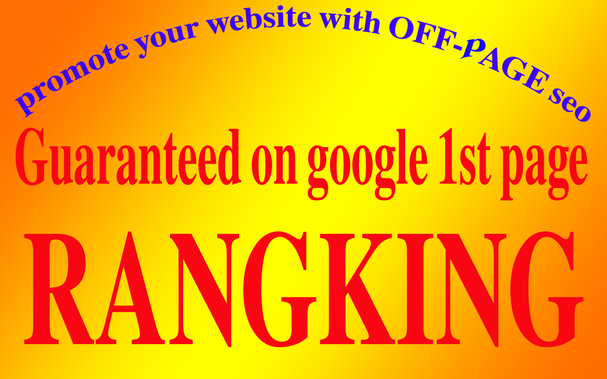 I will promote your website on the top of Google Ranking