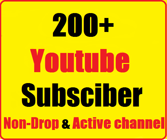 Guaranteed  200+ Youtube subscrib non drop Instant start