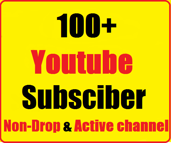 Instant start 110+ Youtube Real Channel Subs cribers non drop and safe