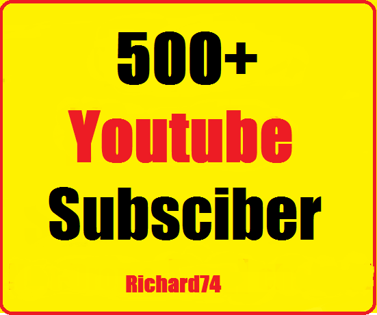 500+ Youtube channel subscriber very fast complete