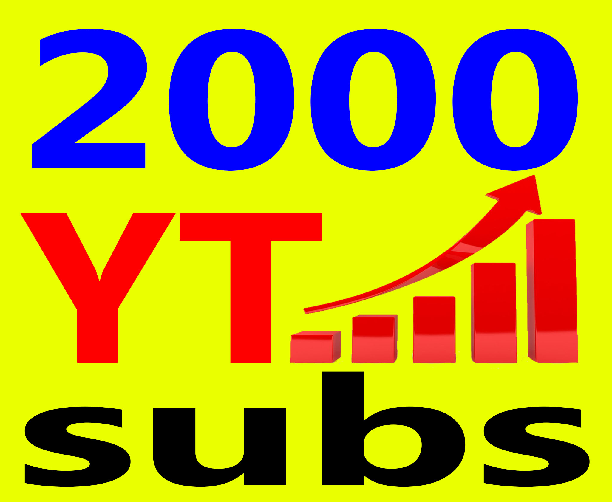 Give You 1000+ Real Human Subs High Quality and Non Drop