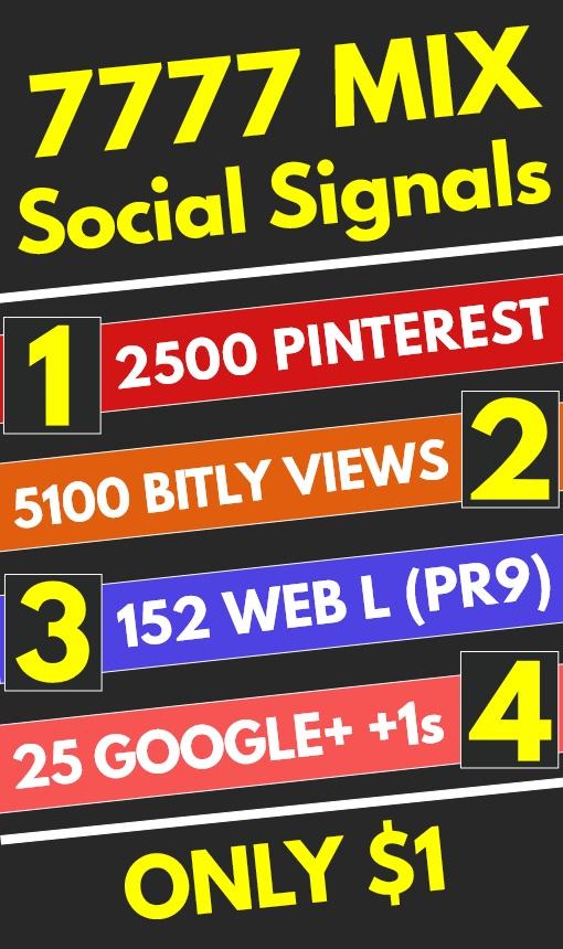 7777 Mix High Quality PR9 PR10 Social Signals Shares ...