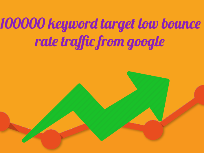 100000 keyword target low bounce rate traffic from google
