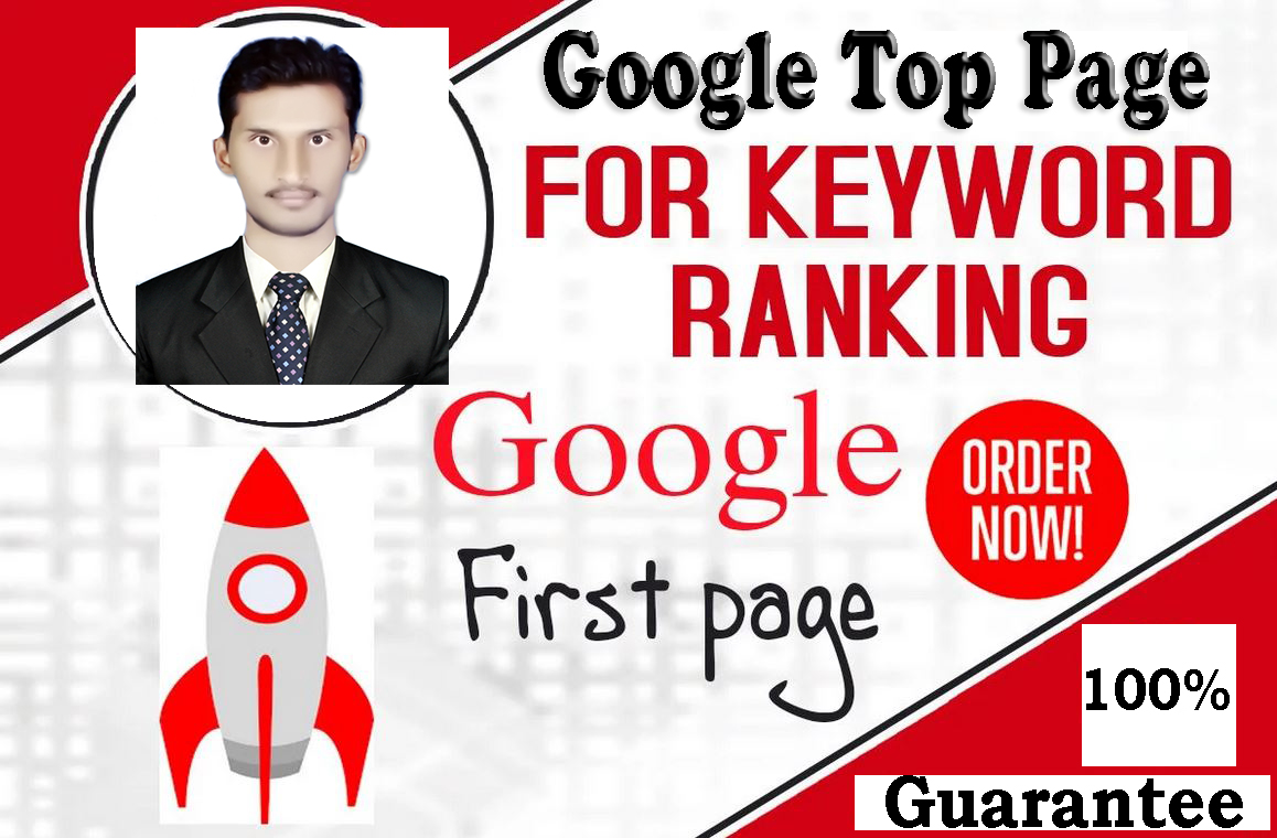 Google top page ranking organic SEO on your website