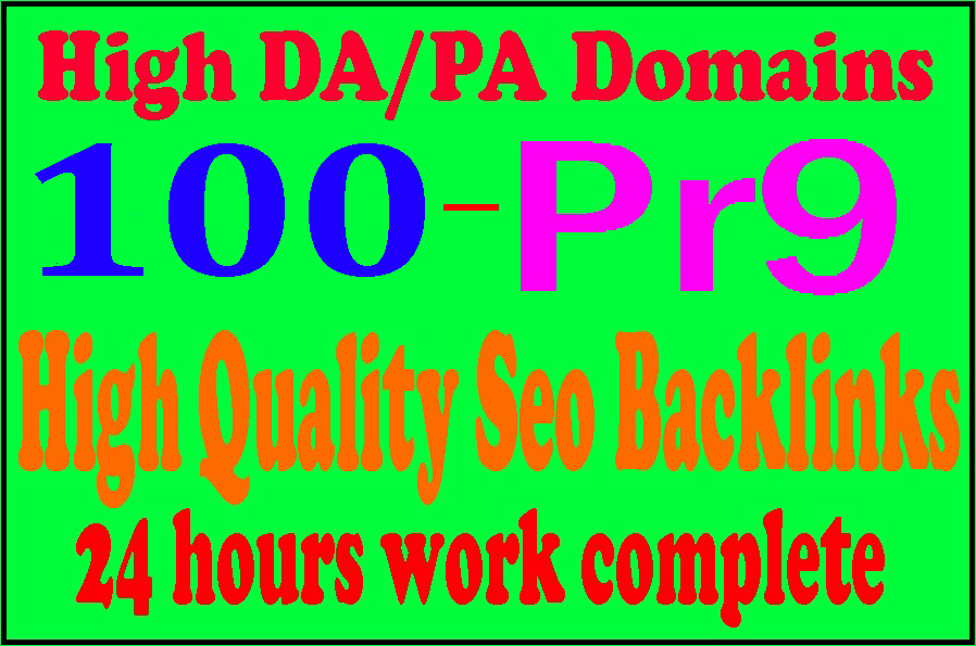 100 Pr9 + 10 Edu-Gov High Domains Authority Safe Seo Backlinks From - White Hat SEO